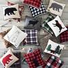 Cabin Plaid Faux Fur Square Throw Pillow - Eddie Bauer - image 3 of 3
