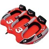 Airhead Viper 3 Triple Rider Cockpit Inflatable Towable Lake Water Tube (2 Pack) - image 2 of 4