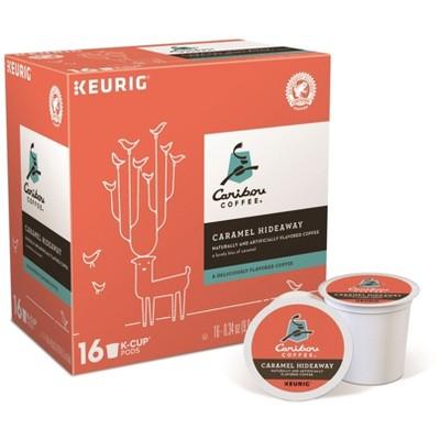 Caribou Coffee Caramel Hideaway Flavored Medium Roast Coffee - Keurig K-Cup Pods - 16ct