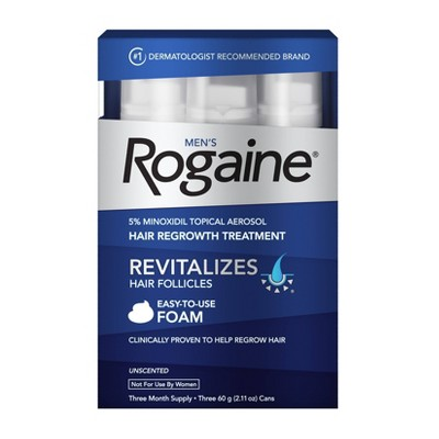 Men's Rogaine 5% Minoxidil Foam for Hair Regrowth - 3-Month Supply