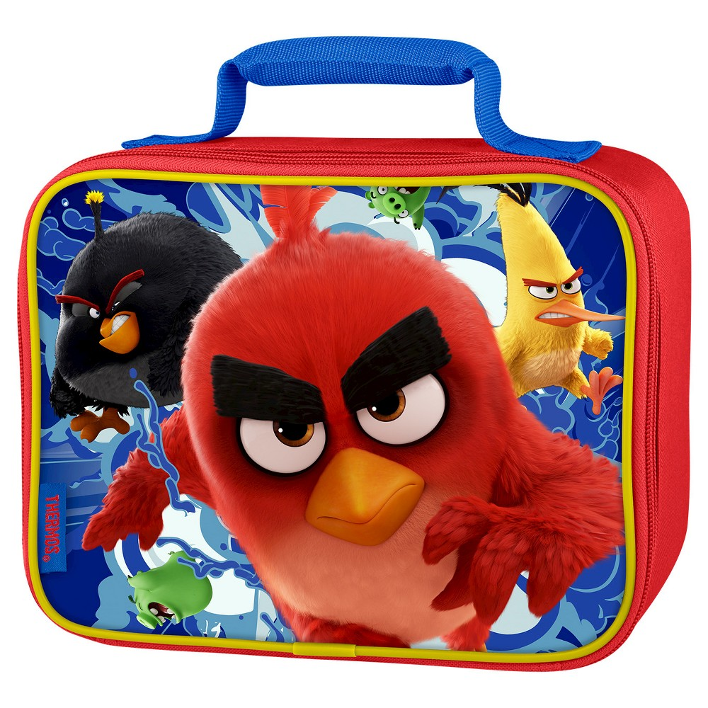Thermos Angry Birds Lunch Box - Red This soft lunch kit from Geniune Thermos Brand is a great choice for kids to take their lunch to school. Decorated with a unique, 3D lenticular front panel, this lunch kit features a comfortable, padded carrying handle and premium foam insulation to keep lunches cooler and fresher. Color: Red. Pattern: Bird.