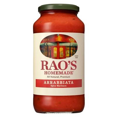 Rao's Homemade Arrabbiata Sauce Spicy Tomato Sauce & Pasta Sauce Premium Quality All Natural Keto Friendly & Carb Conscious - 24 oz