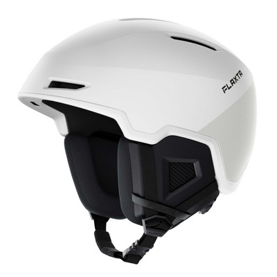 Flaxta Exalted Protective Ski and Snowboard Full Helmet with Size Adjustment System, Small/Medium Size, White
