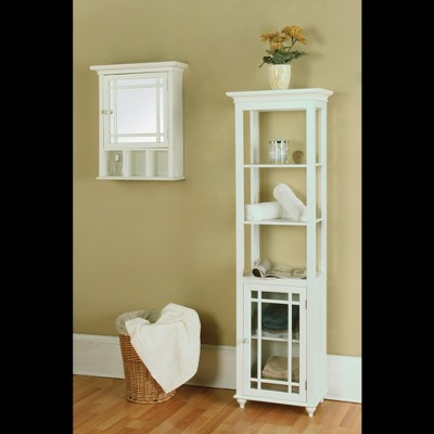 Neal Wall Cabinet With 1 Door White   Elegant Home Fashions : Target