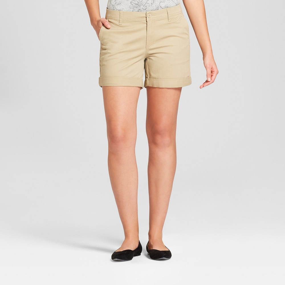 Women's 5 Chino Shorts - A New Day Tan 18