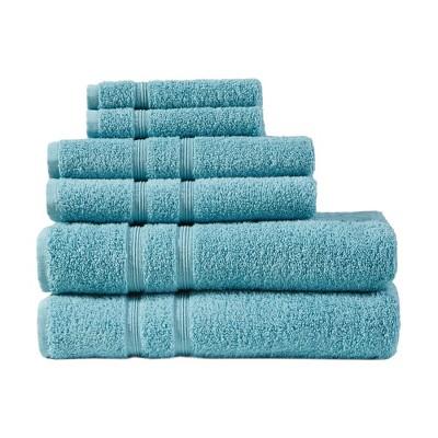 6pc Aegean 100% Turkish Cotton Bath Towel Set