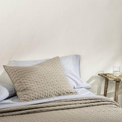 Cashmere Blend Quilted Pillow Sham - Casaluna™