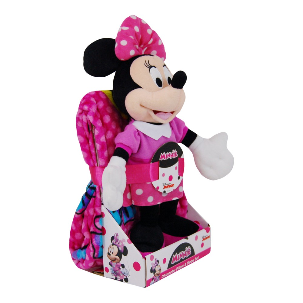 Disney Minnie Mouse Throw Blanket & Pillow Buddy, Multi-Colored