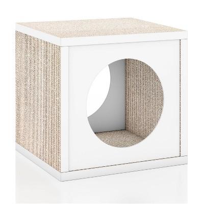 Way Basics Eco Cube Cat Scratcher - S/M - White