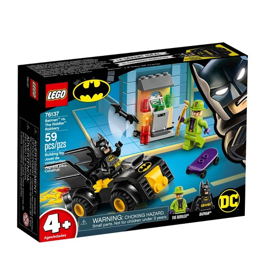 LEGO DC Comics Super Heroes Batman vs. The Riddler Robbery 76137 Toy Car Building Kit 59pc image number null