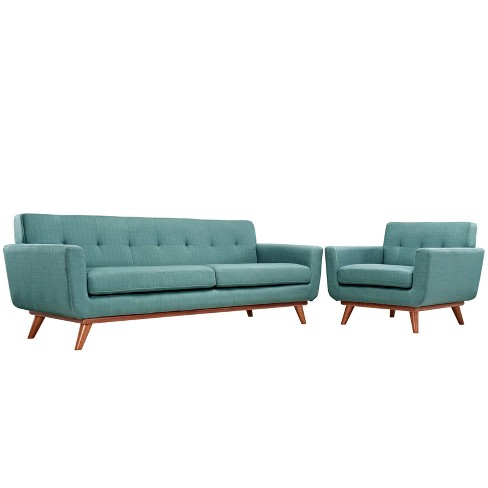 Engage Armchair and Sofa Set of 2 Laguna - Modway - image 1 of 7