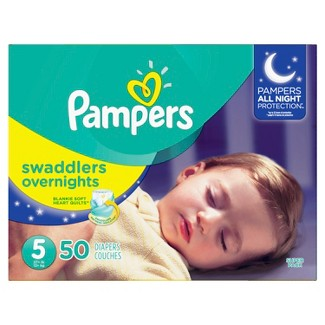 Pampers Swaddlers Overnight Diapers - Size 5 (50ct)