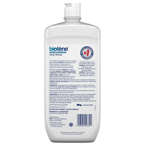 Biotene Fresh Mint Dry Mouth Oral Rinse - 33 8 fl oz