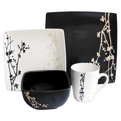 American Atelier Twilight Blossom 16pc Dinnerware Set