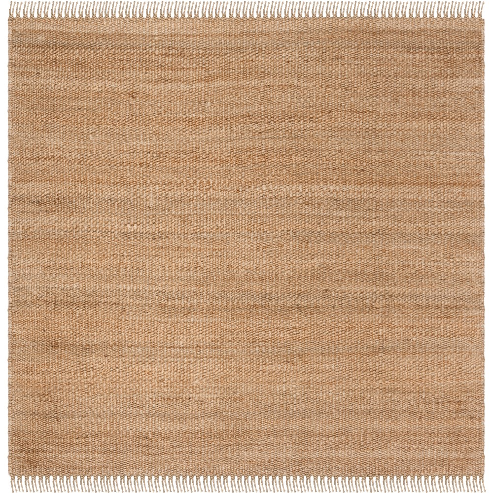 6'X6' Solid Woven Square Area Rug Natural - Safavieh