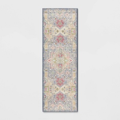 2'x7' Zebrina Medallion Persian Printed Accent Rug - Opalhouse™