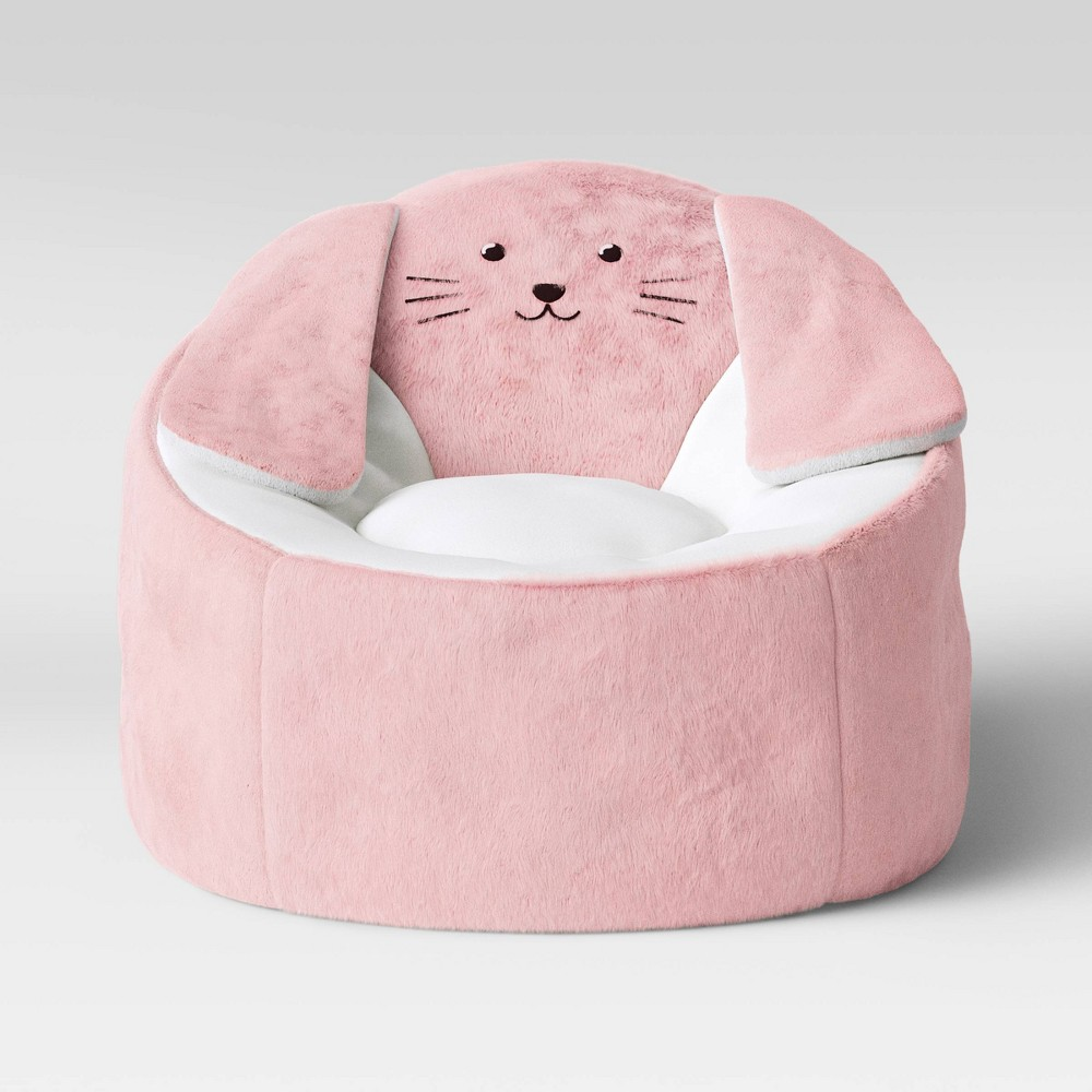 Image of Kids' Character Bean Bag Chair Bunny Pink - Pillowfort