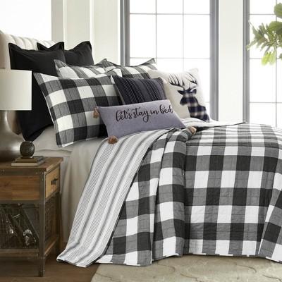Camden Black Bedspread and Pillow Sham Set - Levtex Home
