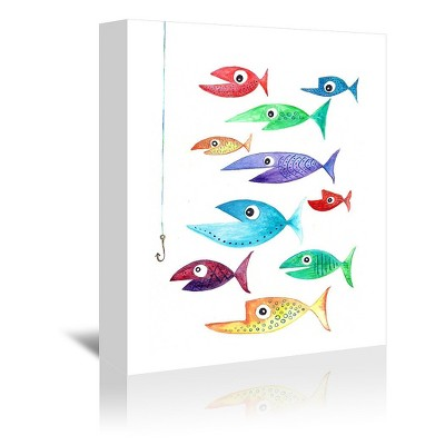 Americanflat Fish Cluster 3 by T.J. Heiser Wrapped Canvas