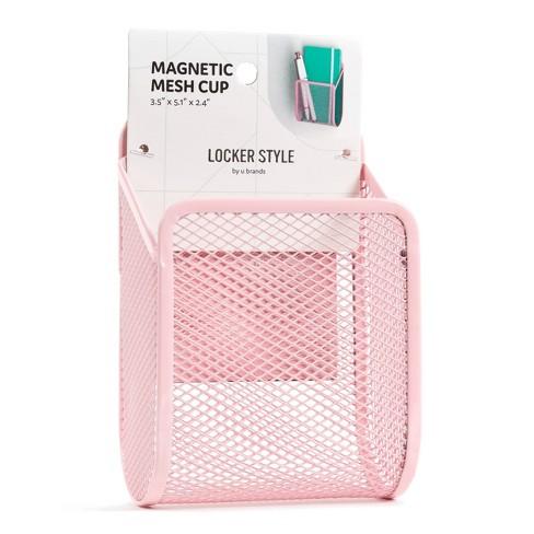 Magnetic Mesh Metal Locker Cup - Locker Style by UBrands  - image 1 of 3