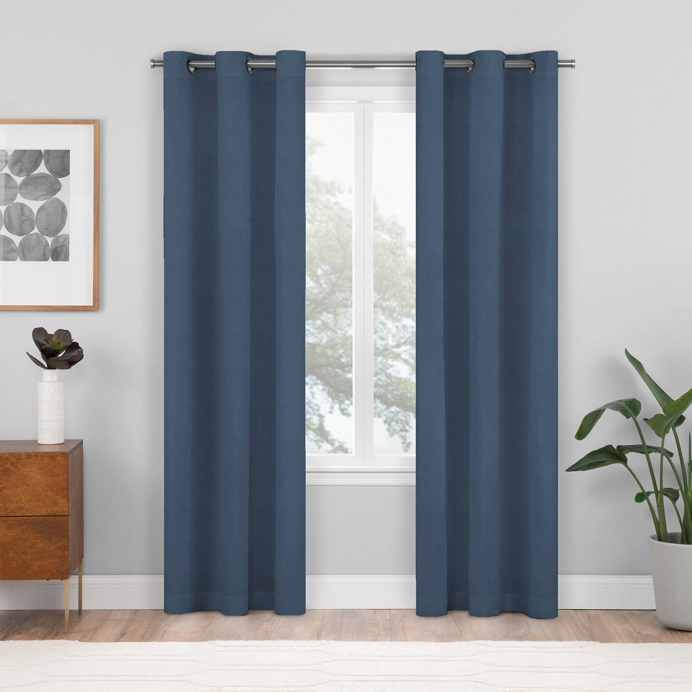 2pk 84 34 X37 34 Shadow Blackout Curtain Panels Blue Eclipse