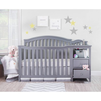 Sorelle Berkley Crib & Changer Standard Full-Sized Crib Gray