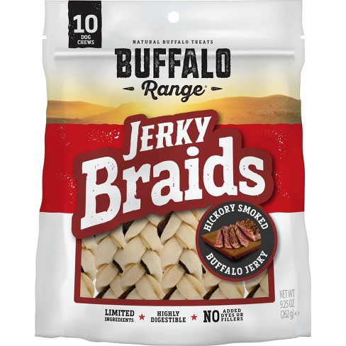 Buffalo Range Natural Jerky Braids Rawhide Chews for Dogs  - 10ct - image 1 of 4