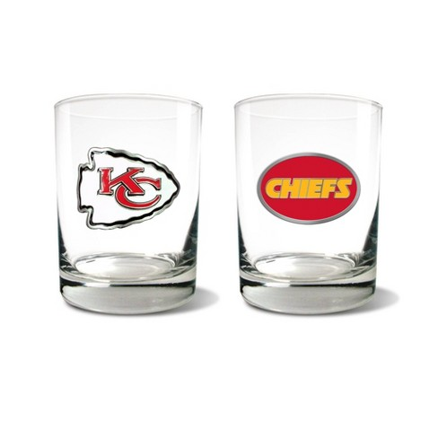 NFL Kansas City Chiefs Rocks Glass Set - 2pc - image 1 of 1