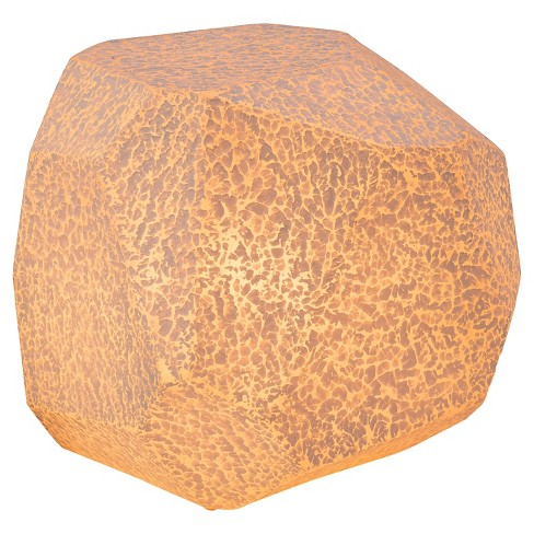Textured Fiberglass Illuminated Stool - ZM Home - image 1 of 13