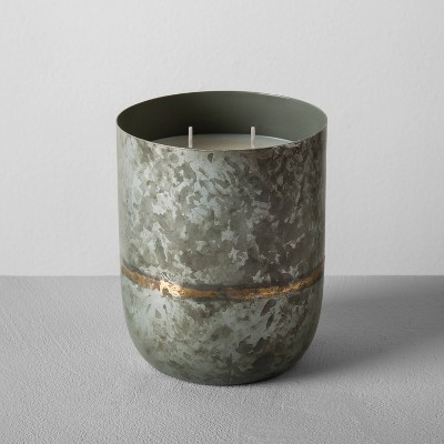 Galvanized Container Candle 25oz - Balsam & Spice - Hearth & Hand™ with Magnolia