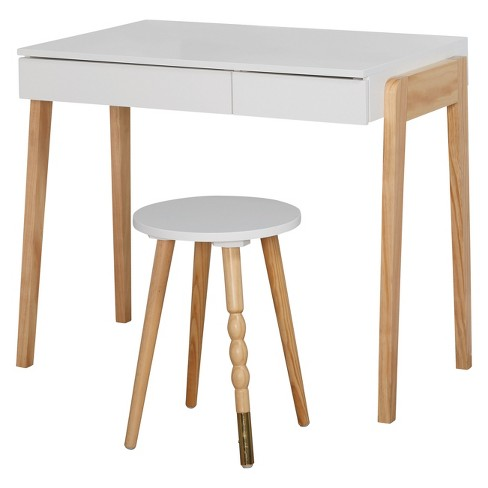 Buylateral Writing Desk Fresh White - image 1 of 4