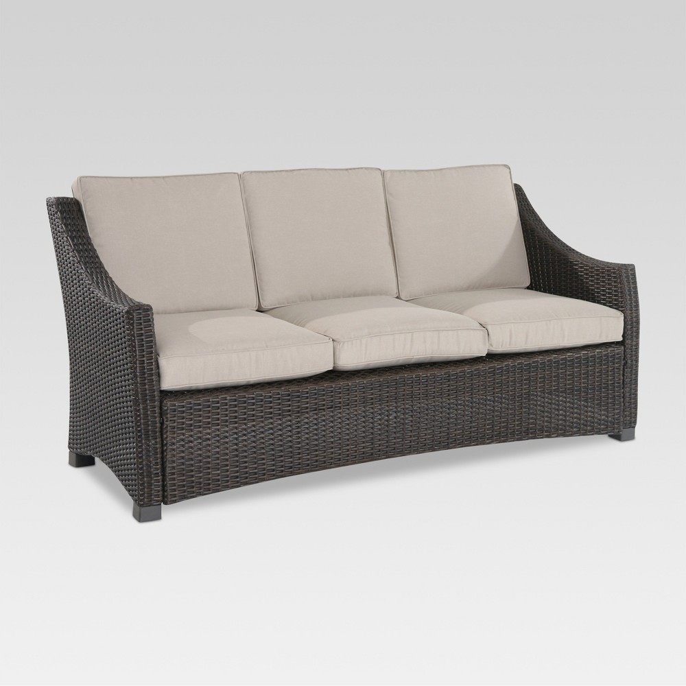Belvedere Wicker Patio Sofa - Tan - Threshold, Beige