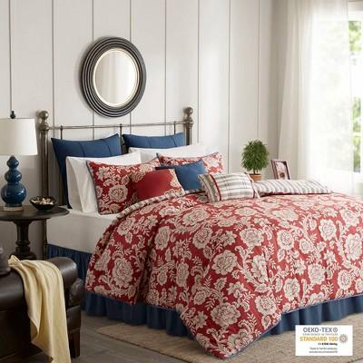 Rose Cotton Twill Comforter Set 9pc