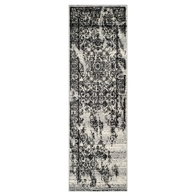 Addaneye Accent Rug - Silver/Black (2'6 x6')- Safavieh®