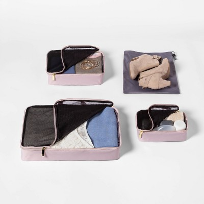 4pc Packing Cube Set Violet Ice Open Story™