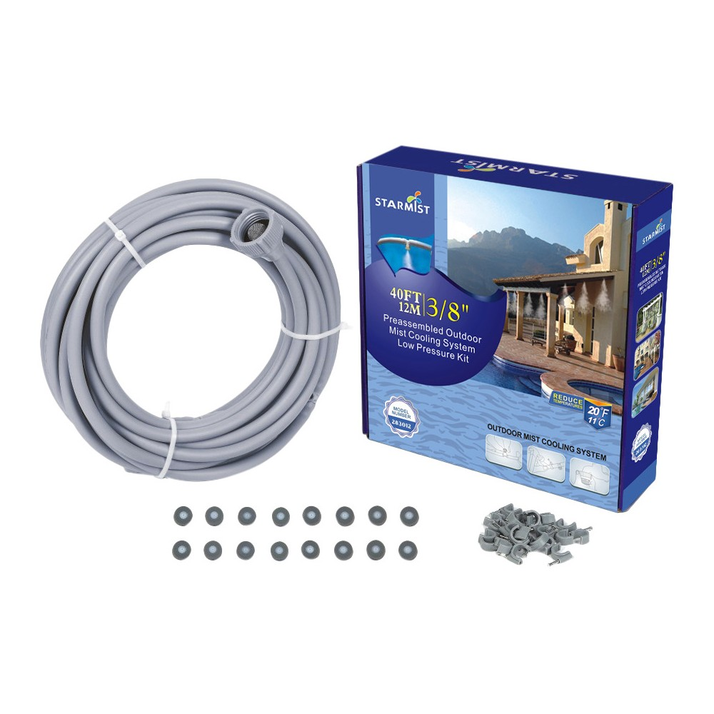 "Image of ""3/8"""" Preassembled Mist Cooling Kit, 40' - Gray - Sunneday"""