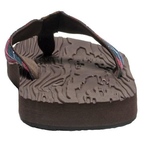 b096b35321a1f6 Men s MUK LUKS® Asher Flip Flop Sandals - Brown 10   Target