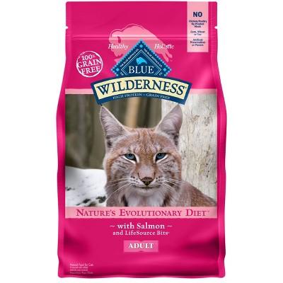 Blue Buffalo Wilderness Grain Free Salmon Adult Premium Dry Cat Food - 4lbs