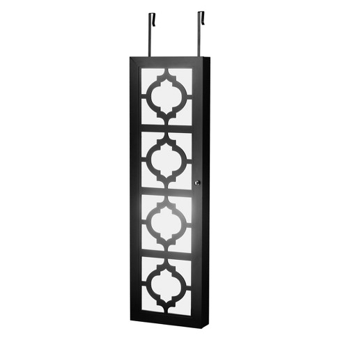Designer Jewelry Armoire with Decorative Mirror Black - FirsTime - image 1 of 4