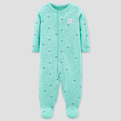 Baby's Whale Cotton Sleep N' Play - Just One You® made by carter's Green 3M