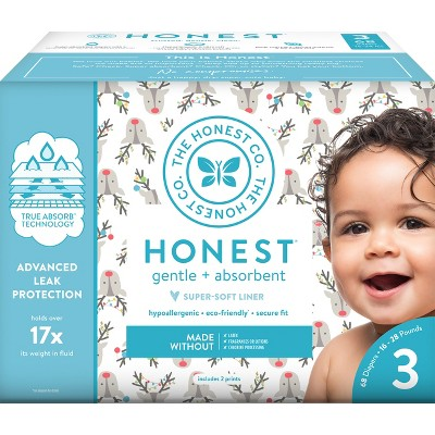 Honest Company Disposable Diapers Club Box Hey Rudolph - Size 3 (68ct)