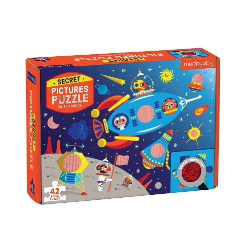 Galison Outer Space Secret Picture Jigsaw Puzzle - 42pc - image 1 of 4