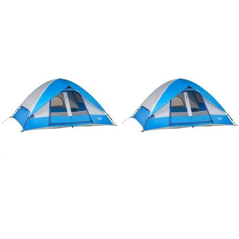 7fae9cdb519 Wenzel 10 X8  Pine Ridge 5 Person Lite Reflect Dome Camping Tent ...