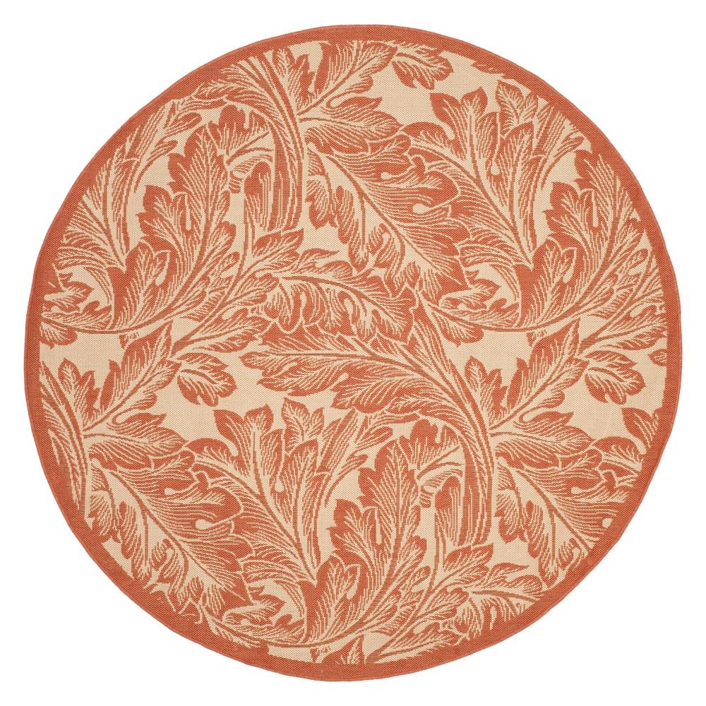 Leon 6'7 Outdoor Patio Rug - Natural / Terra - Safavieh, Orange