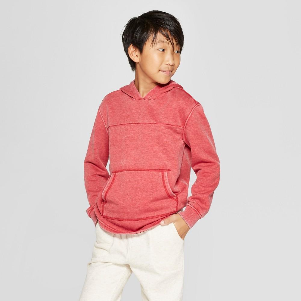 Boys' Hooded Sunburn Wash Sweatshirt - Cat & Jack Coral Heather M