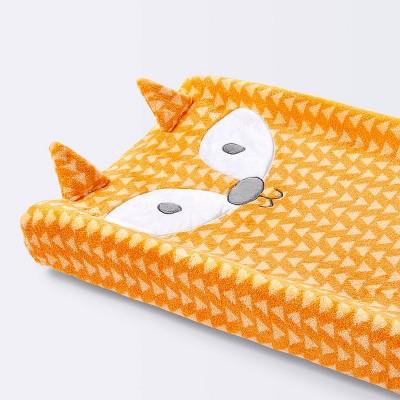 Plush Changing Pad Cover Fox - Cloud Island™ - Orange