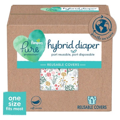 Pampers Hybrid Cover Girl Diaper Full Floral - One Size - 1ct
