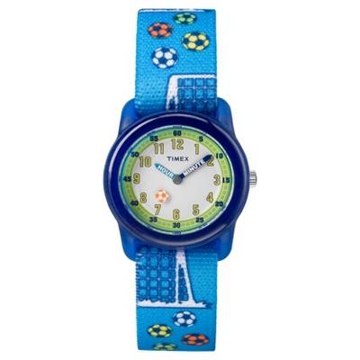 Kid's Timex Watch with Soccer Strap - Blue TW7C16500XY