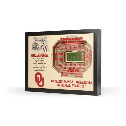 NCAA Oklahoma Sooners 25 Layer Stadiumviews 3D Wall Art - image 1 of 4