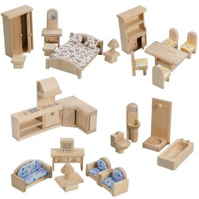 Plan Toys Classic Dollhouse Furniture Set